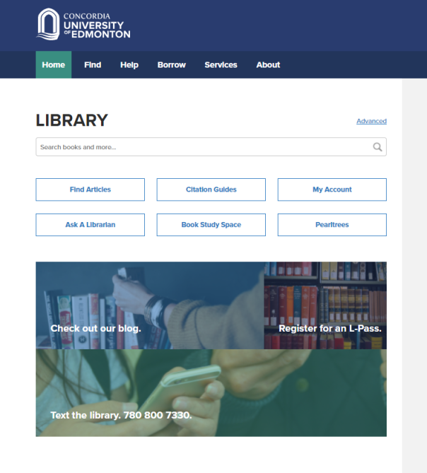 CUE Library Website